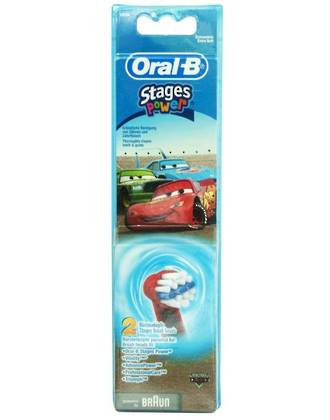 Oral-B Disney Cars Toothbrush Heads (2 Pack)