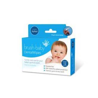 Brush-Baby Dental Wipes - 12 pack for 0-16 months