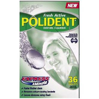 Polident Fresh Active Express 3 minute Denture Cleanser