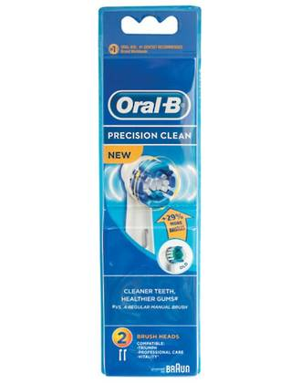 Oral-B Precision Clean (Flexisoft) Toothbrush Heads (2 Pack)