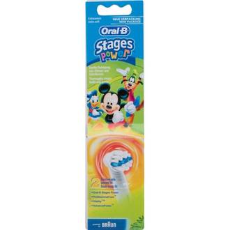 Oral B Disney Mickey Mouse Characters Toothbrush Heads (2 Pack)