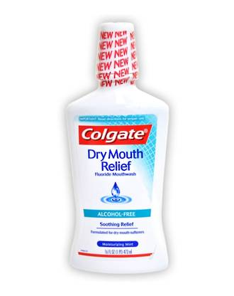 Colgate Dry Mouth Relief Fluoride Mouthwash - Alcohol Free - 473mL