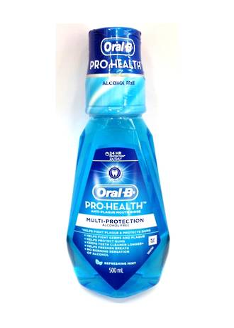 Oral-B Pro-Health Multi-protection Alcohol Free Mouthrinse 500mL