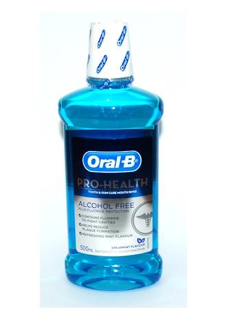 Oral-B Pro-Health Tooth and Gum Care Alcohol Free MouthRinse 500mL