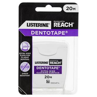 Listerine Reach Dentotape Extra Wide Floss 20m